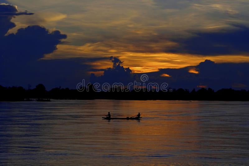 Fleuve de Mekong images stock