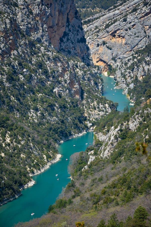 Fleuve de montagne Canyon de Verdon dans le printemps, Provence france images libres de droits