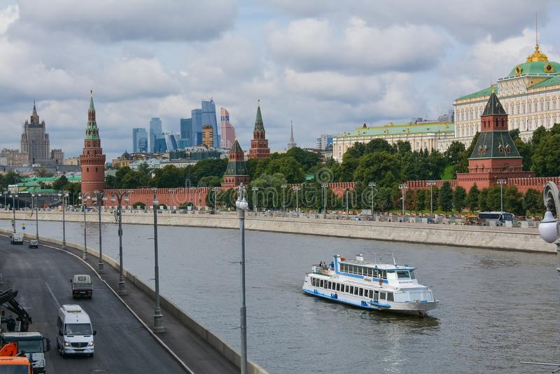 Download Fleuve de Moscou photo stock éditorial. Image du kremlin - 76087008