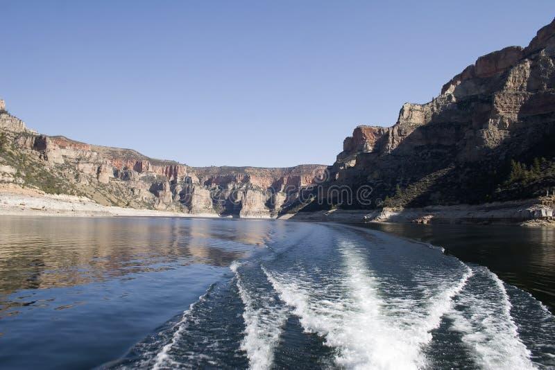 Fleuve de mouflon d'Amérique, Montana photographie stock