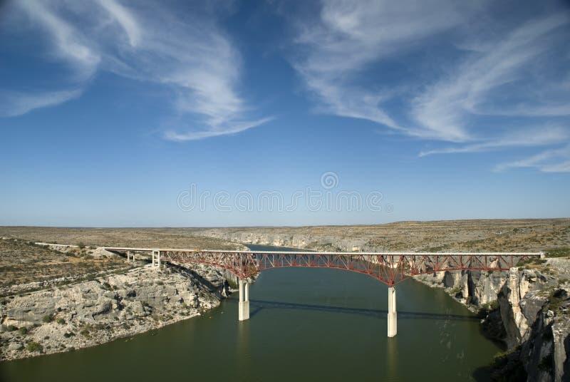 fleuve de PECO de passerelle photo libre de droits