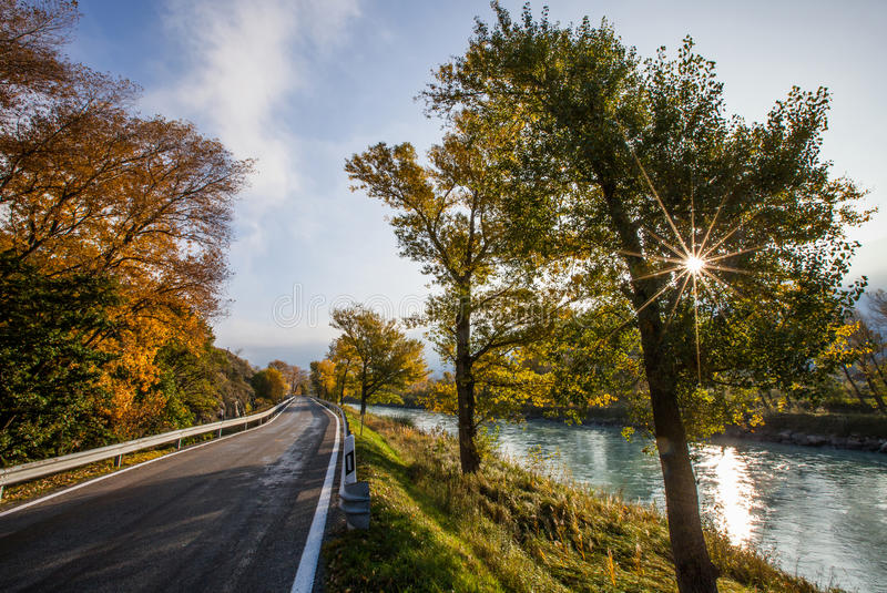 Fleuve de Rhône IV images libres de droits