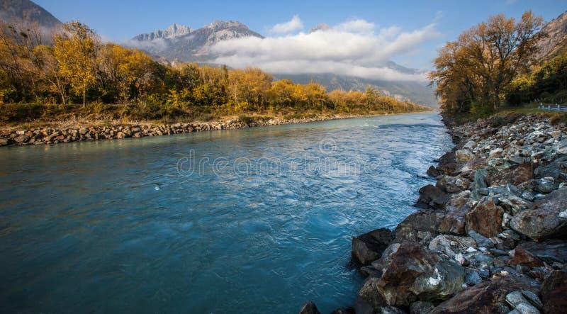 Fleuve de Rhône V photo libre de droits
