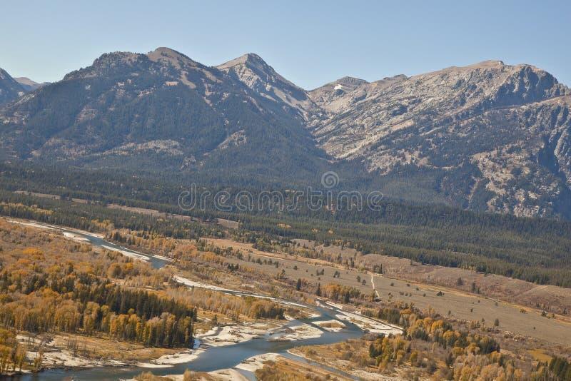 Fleuve de serpent de l'air au Wyoming image stock