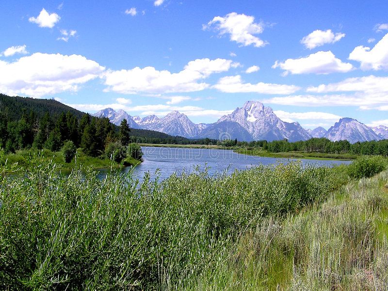Fleuve de serpent, Wyoming photos stock