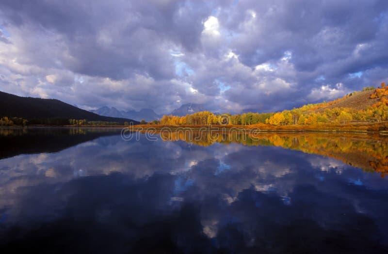 Fleuve de serpent, Wyoming image stock