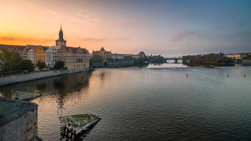 Fleuve de Vltava à Prague photos libres de droits