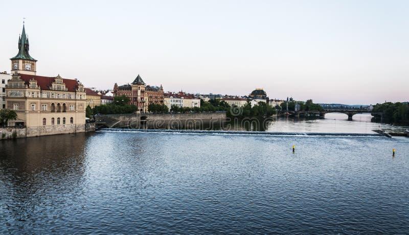 Fleuve de Vltava photo stock