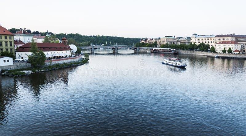 Fleuve de Vltava photo libre de droits