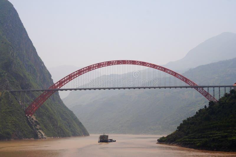 Fleuve de Yang Tsé Kiang image libre de droits