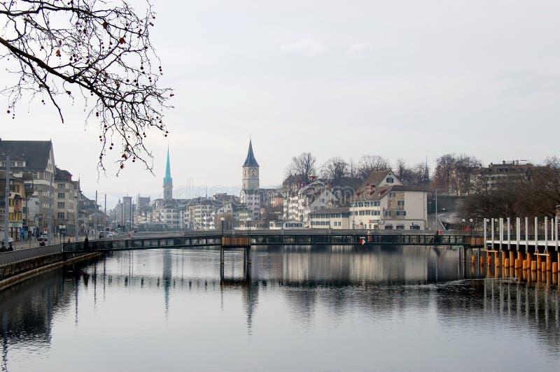Fleuve de Zurich image libre de droits