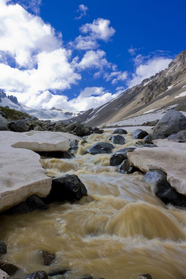 Fleuve en montagnes image stock