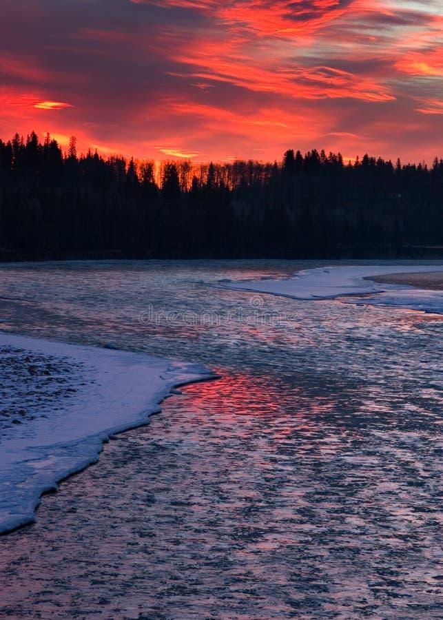 Fleuve glacial image stock