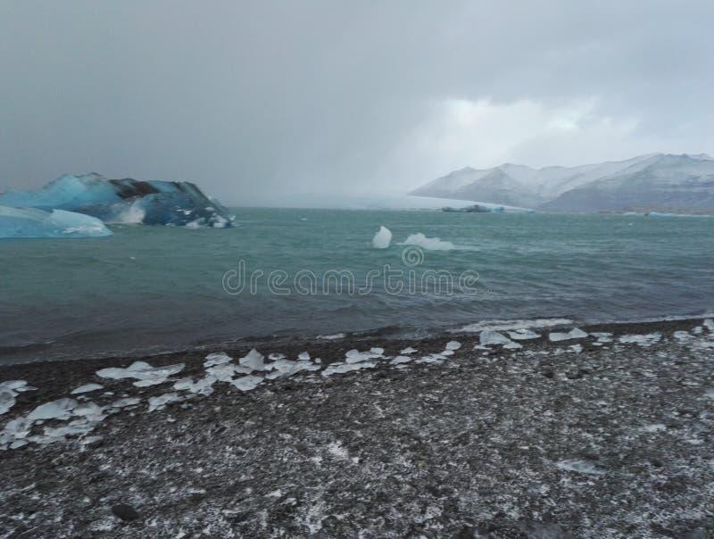 Fleuve glacial image libre de droits