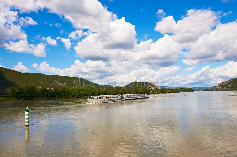 Fleuve le Rhône photo libre de droits