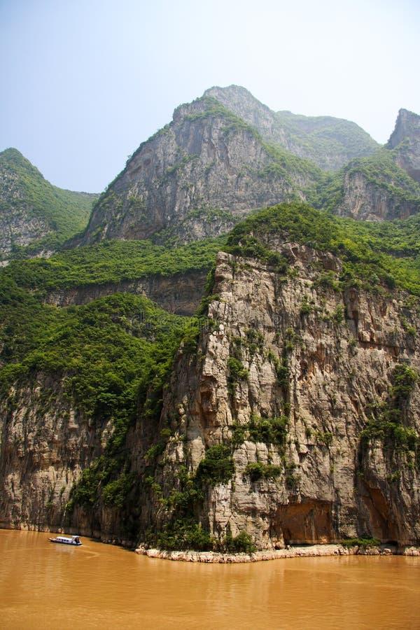 fleuve le Yang Tsé Kiang de porcelaine image libre de droits