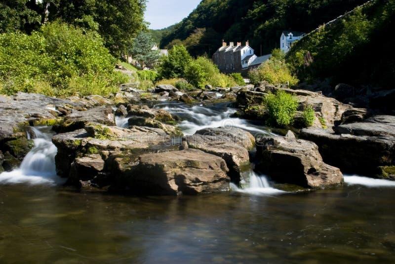Fleuve Lyn dans Exmoor photo stock