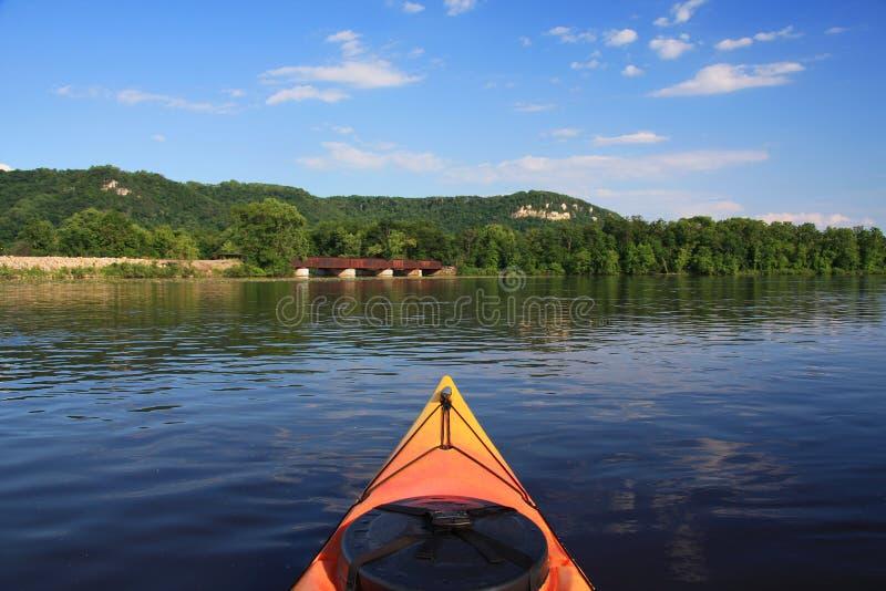 Fleuve Mississippi kayaking photo stock