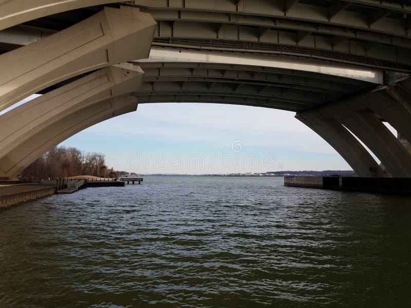 Fleuve Potomac sous le pont de Wilson en Virginie photographie stock libre de droits