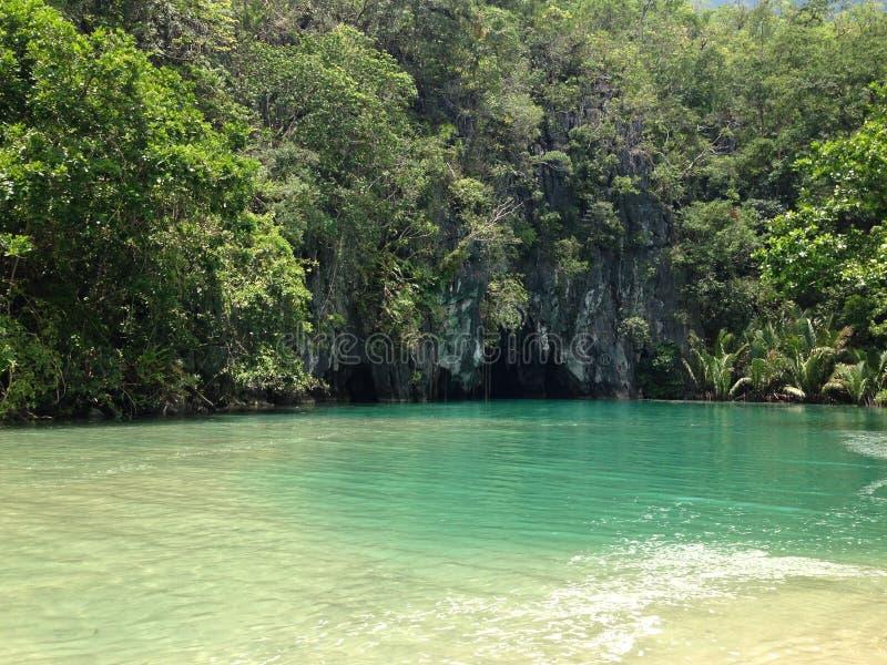 Fleuve souterrain de Puerto Princesa photos stock