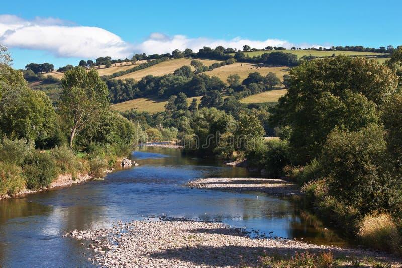 Fleuve Usk au Pays de Galles R-U photographie stock libre de droits