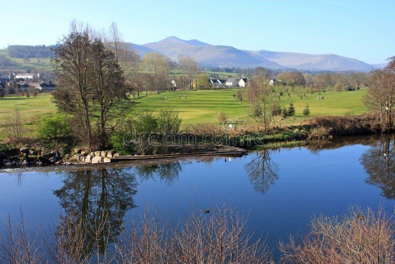 Fleuve Usk, Brecon photo libre de droits