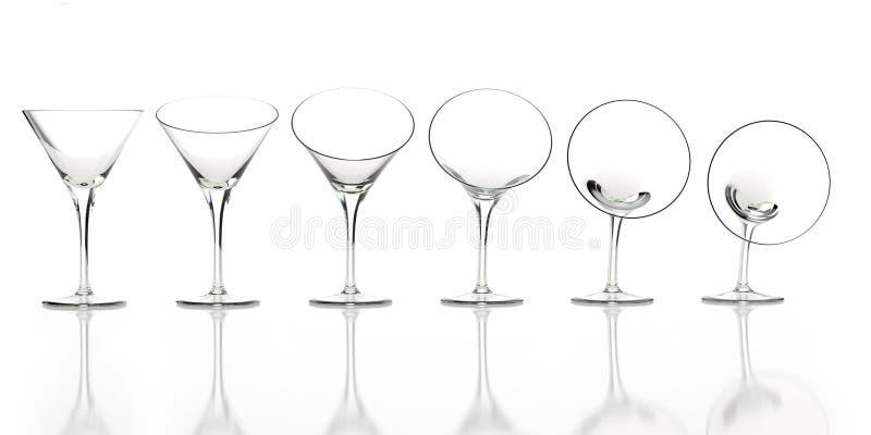 Flexibele glazen voor reclame op een witte reflec vector illustratie