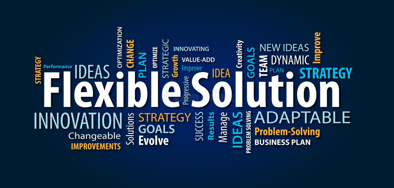 Flexibele Oplossingsword Wolk vector illustratie