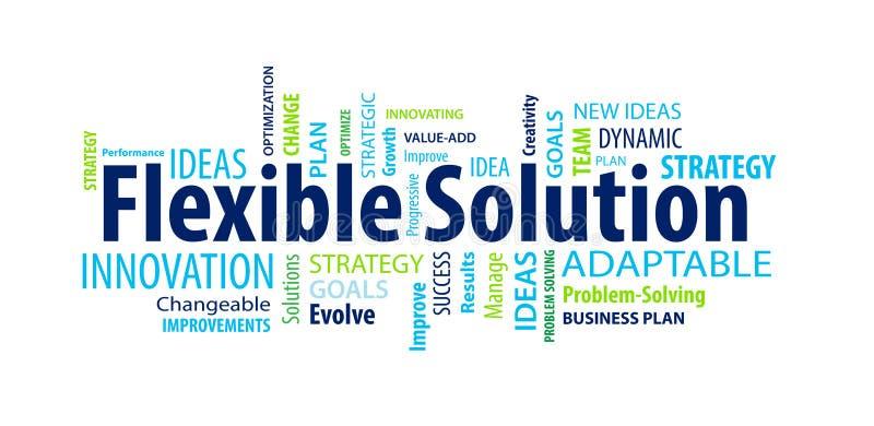 Flexibele Oplossingsword Wolk stock illustratie