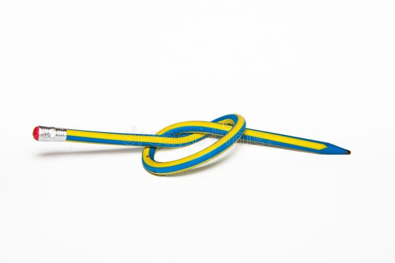 Flexibele pen met een knoop stock fotografie