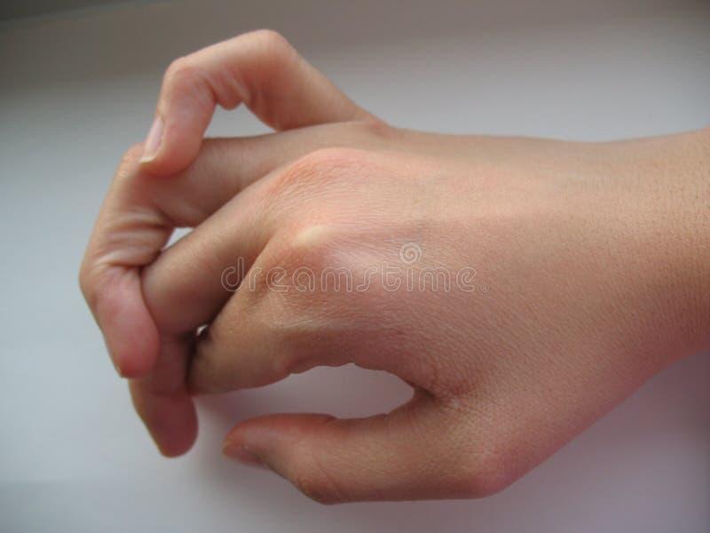 Flexibele vingers royalty-vrije stock afbeelding