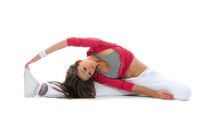 Download Flexible Dancer Woman Sit On Twine Stock Photo - Image: 20281200