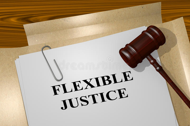 Flexible Justice - legal concept royalty free illustration