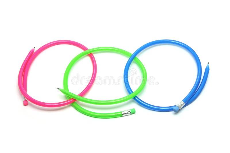 Download Flexible Pencils stock photo. Image of plastic, colour - 10466242