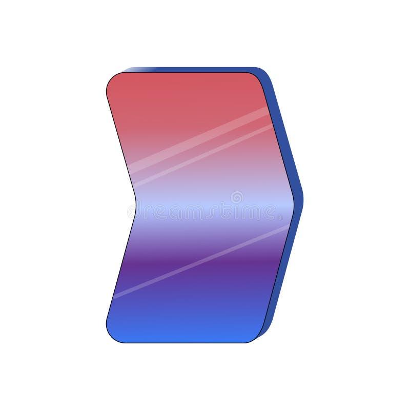 Flexible screen display icon. Innovative technology of bendable screens. Raster illustration vector illustration