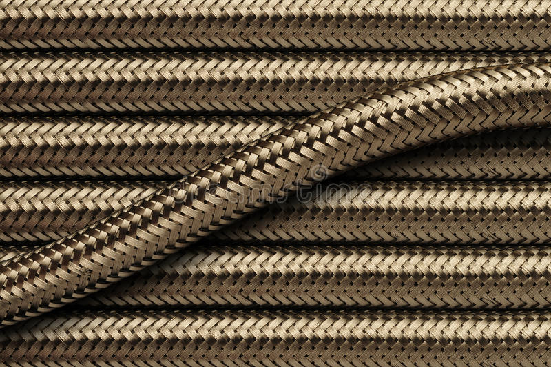 Flexible stainless steel piping tubes royalty free stock photo