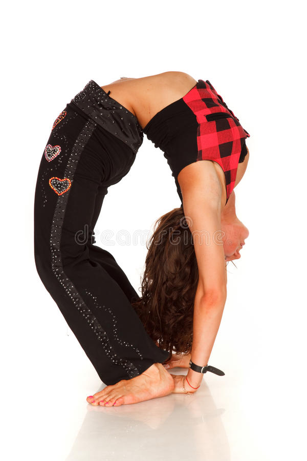 Download Flexible Woman Doing Back-bend Stock Photo - Image: 10489210