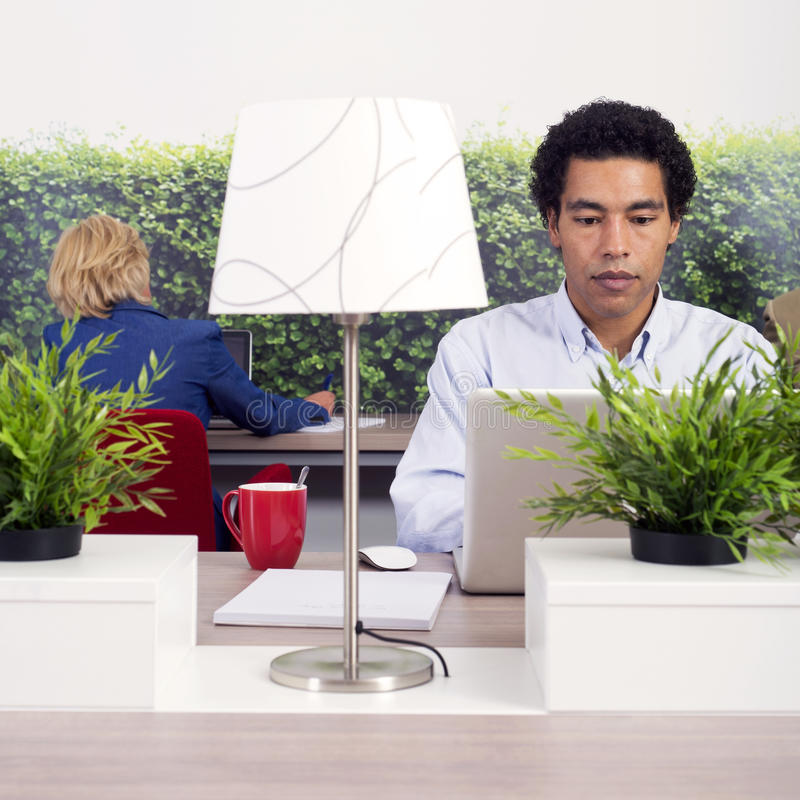 Flexible working space stock image
