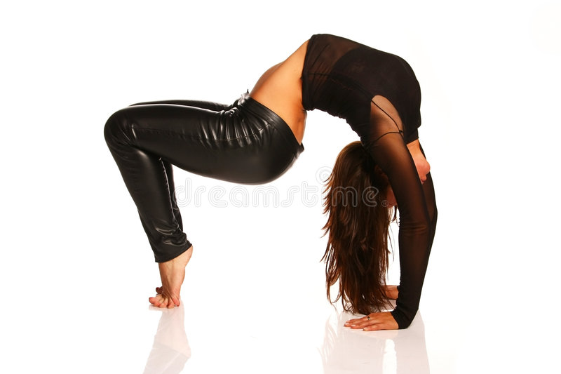 Flexibles Mädchenausdehnen stockfotos
