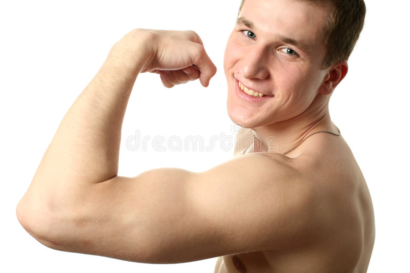 Flexing Biceps royalty free stock images