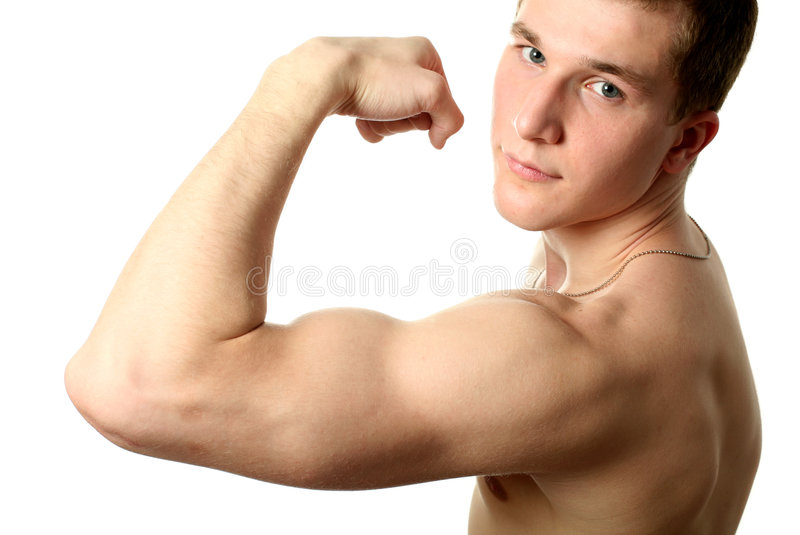 Flexing Biceps stock photography