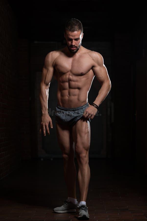 Flexing Muscles modelo foto de stock royalty free