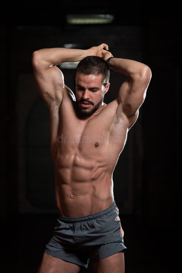 Flexing Muscles modelo fotos de stock royalty free