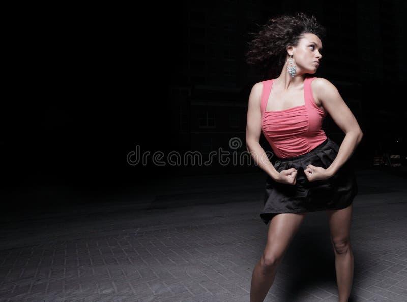 Flexionando a mulher imagem de stock