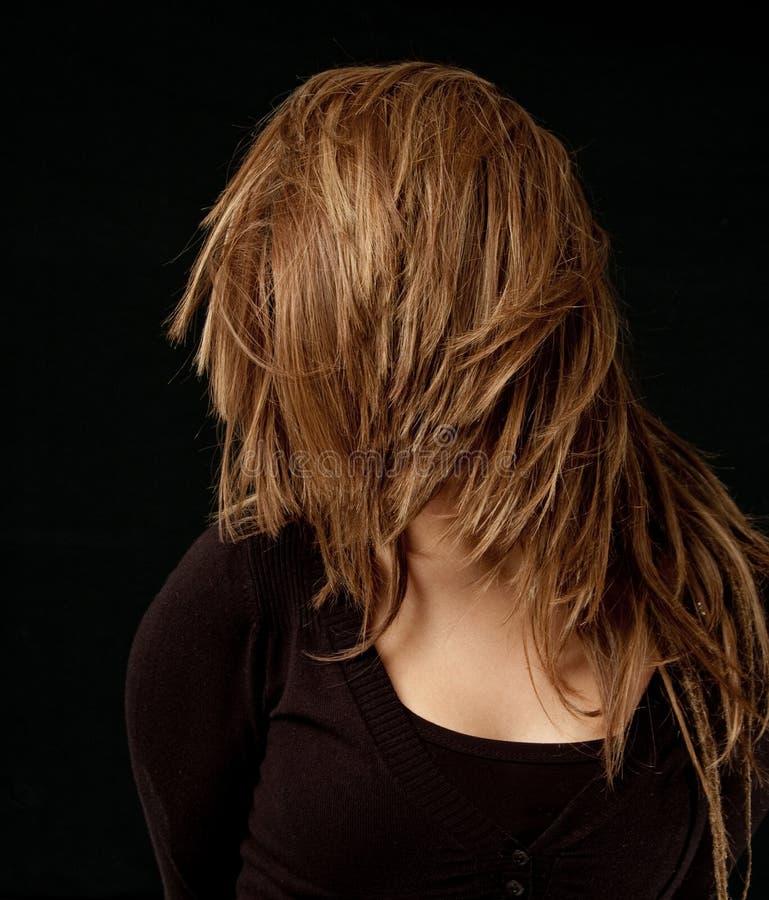 Flick dei capelli fotografia stock libera da diritti