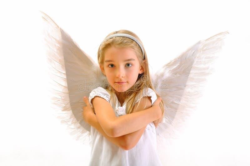 Flicka - ängel arkivfoto