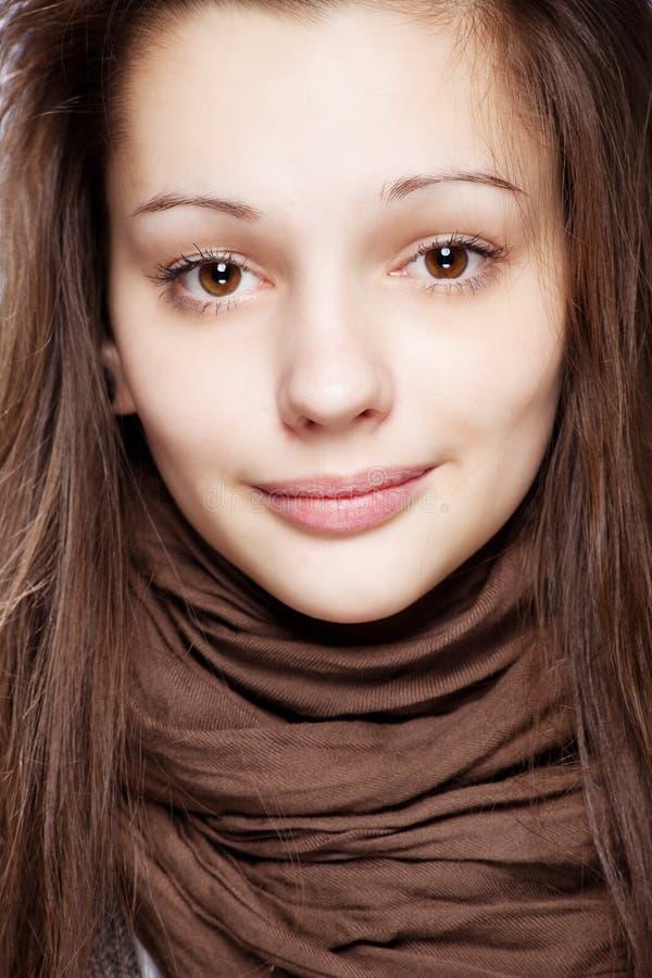 flicka över tonårs- white arkivfoto