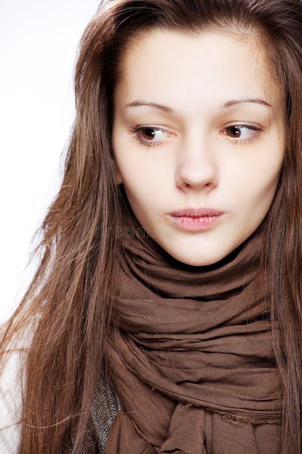flicka över tonårs- white royaltyfri bild