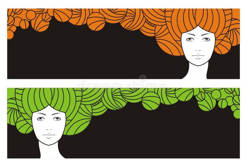 flicka stock illustrationer