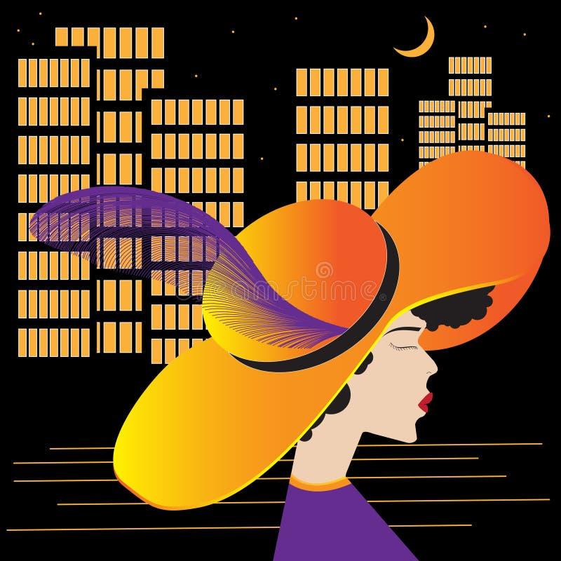 Flicka av staden royaltyfri illustrationer